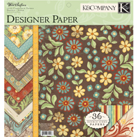 Wild Saffron Two-Sided Paper Pad von K&Company