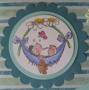 Meine erste selbstgebastelte Babykarte