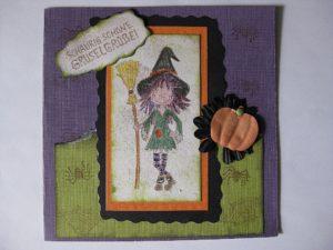 Gerade noch rechtzeitig… unsere Halloweenkarten