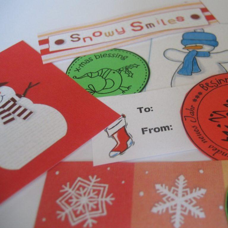 Weihnachtliche Print-Outs für alles mögliche