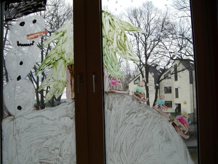 """Einfache """"Winter-Basteleien"""" für Kinder"""