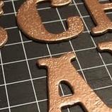 Chipboardbuchstaben in Wunschfarbe