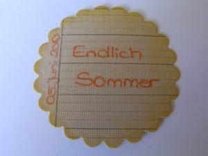 Liniertes Papier auf Cardstock fürs Journaling