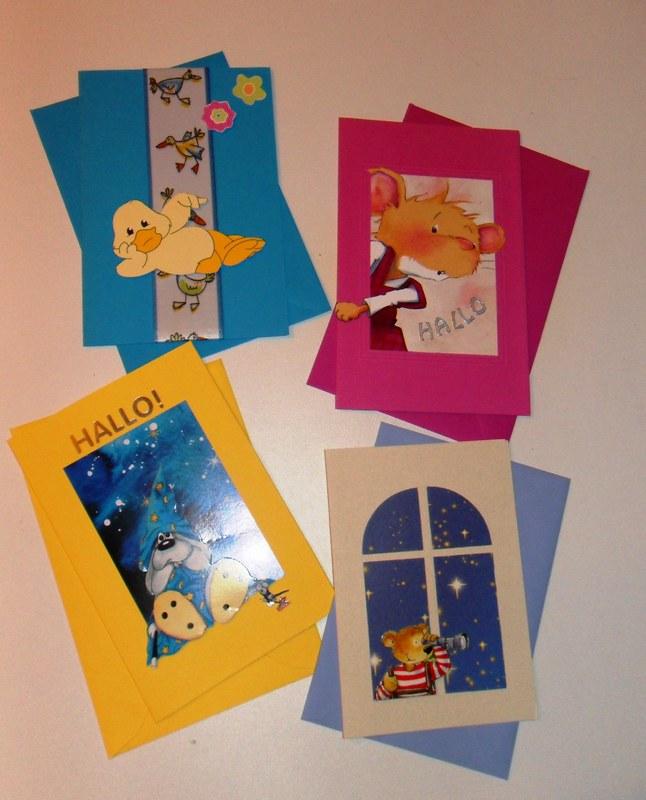 Kinderkarten aus Prospekten alle