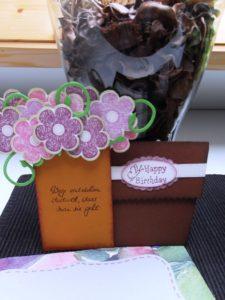 Blumentopkarte Regina offen
