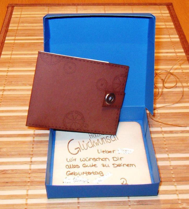 Geschenkgutschein orginell verpackt…