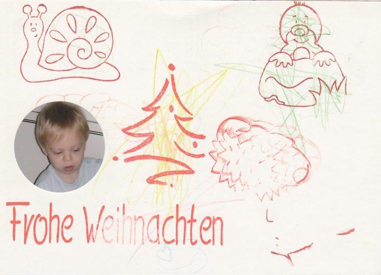 Weihnachtskartenbasteln mit Kids
