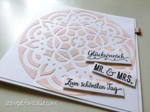 Hochzeitskarte mit Struktur-Mandala