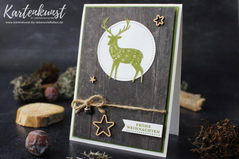 Weihnachtskarte mit dem Stempelset Freude im Advent