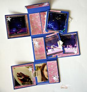 Minialbum aus einem 12×12 Sheet Papier