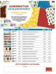 Designerpapier – Aktion im Oktober: 3 kaufen 1 gratis!