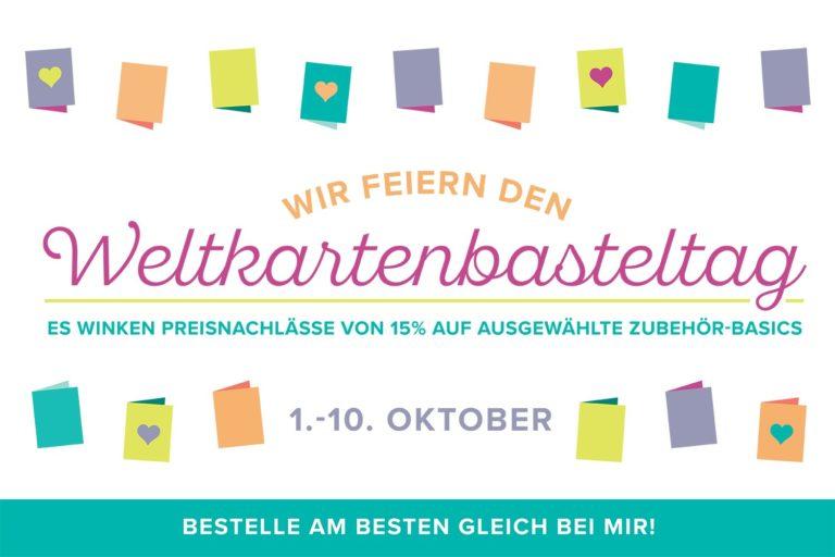 Oktoberaktionen Weltkartenbasteltag & Sonderaktion Designerpapier