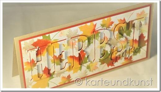 Der Herbst in großen Lettern
