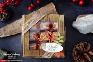 Blog Hop Herbstliche Verpackung mit der Pizzaschachtel & Küsschen