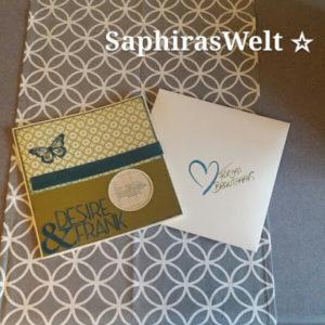Hochzeitskarte und Geldgeschenk