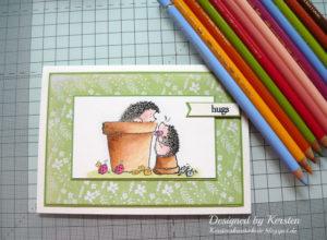 Kolorieren mit Buntstiften und Künstlerterpentin