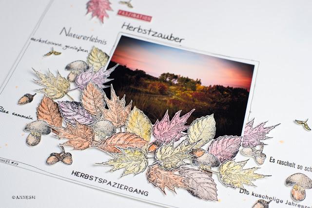Herbstchallenge im SBT-Forum und von mir ein Step by Step Scrapbookinglayout dazu