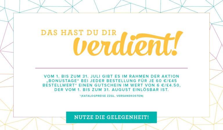 SPARE! Gutschein-Aktion Juli und August 2017