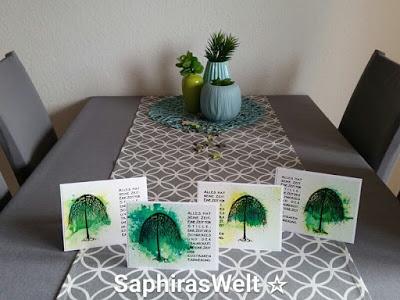 Trauerkarten mit Brushos