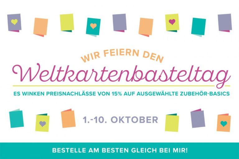 Aktion zum Weltkartenbasteltag und für Designerpapier