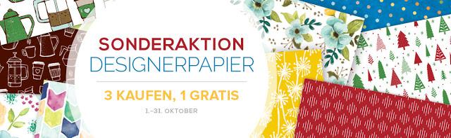 Designerpapier im Oktober: 3 kaufen, 1 gratis!