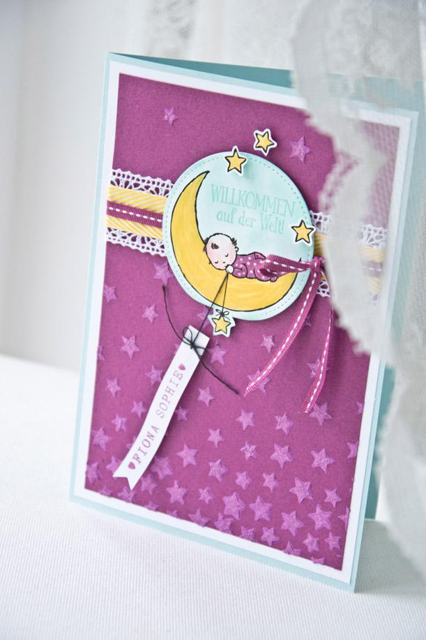 "Glückwunschkarte ""Moon Baby"""