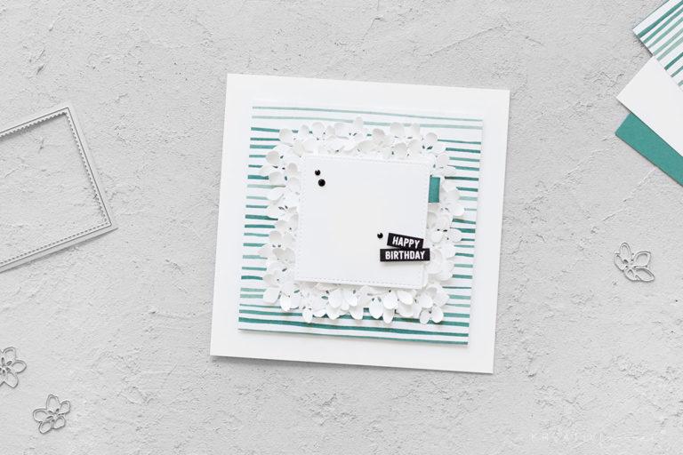 Geburtstagskarte Blumenmeer
