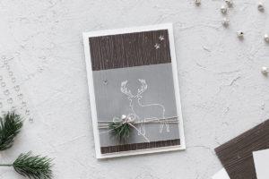 Karte Weihnachtliches Rentier