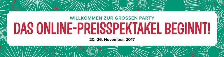Preisspektakel vom 20. – 26. November 2017