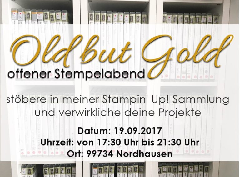 Old but Gold – offener Stempelabend in Nordhausen