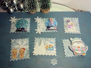 kleine Gruppenbastelei – Thema Winter Card Candy