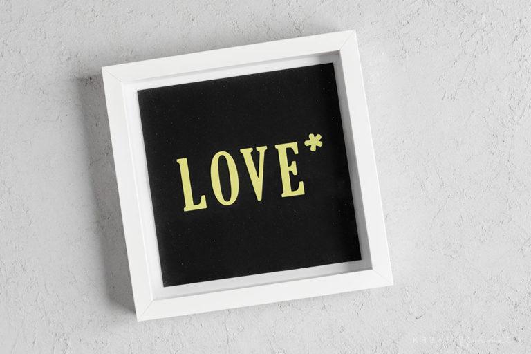 Buchstaben Wandbild – Geschenkidee