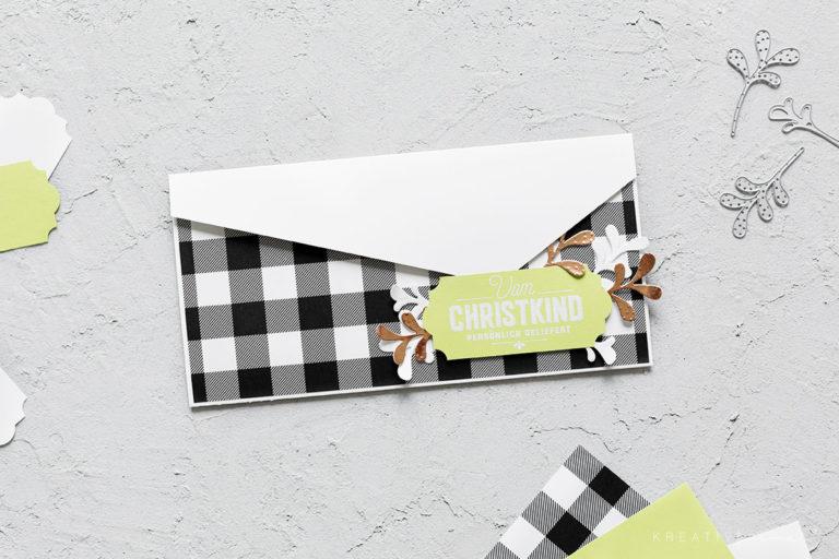 Karte für Geschenkgutschein – Frohes Fest