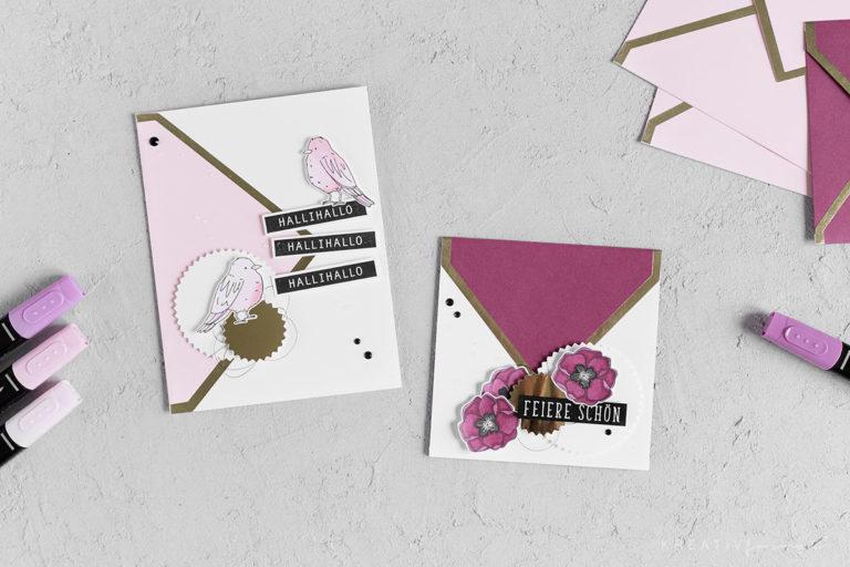 Umschläge & Karten –  Stempelset & Projektset Farbenfroh