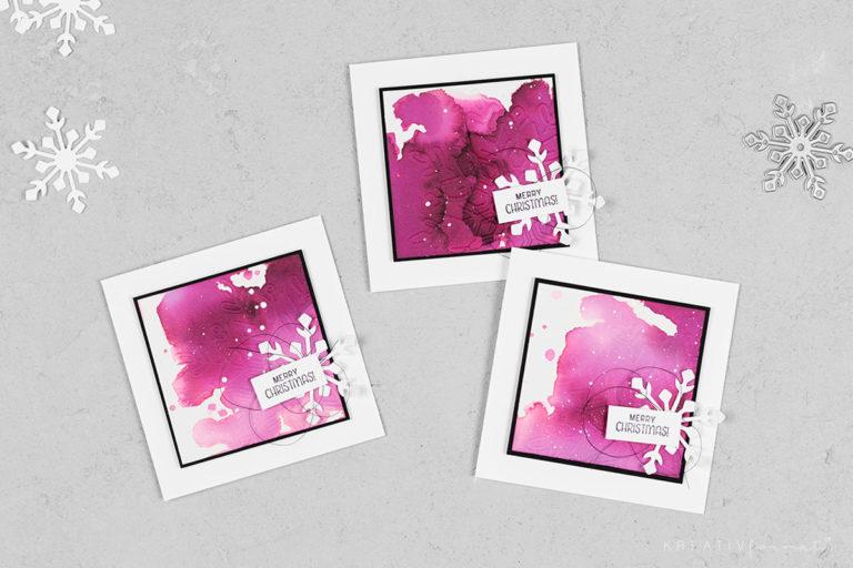 Mini-Weihnachtskarten Schneekristall – Winterzauber
