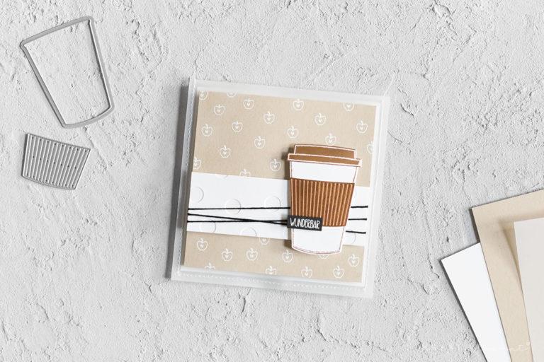 Grußkarte für Teebeutel – Stempelset Merry Cafe