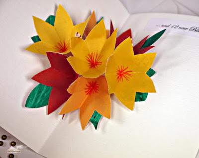 Pop-up Blumenstrauß-Karte