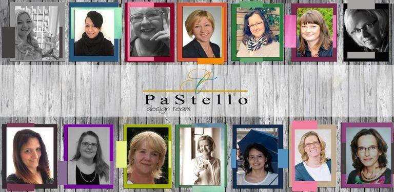BlogHop PaStello: gestreifte Tortenkarte in Schwarz-Weiß-Rosa-Tönen