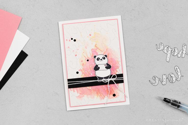 Grußkarte Panda-Liebe & Party-Pandas