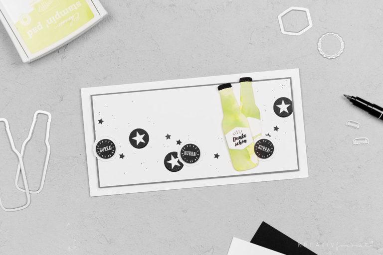 Grußkarte Einfach Erfrischend & Spritzig