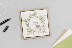 Karte mit Zweigen – Blütentraum & Beste Wünsche
