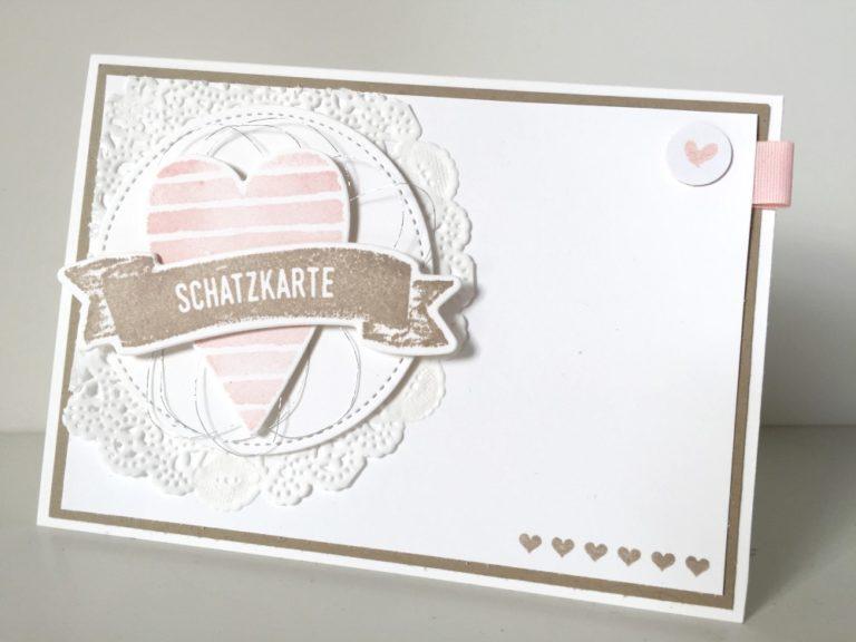 Schatz-Karte für Valentinstag