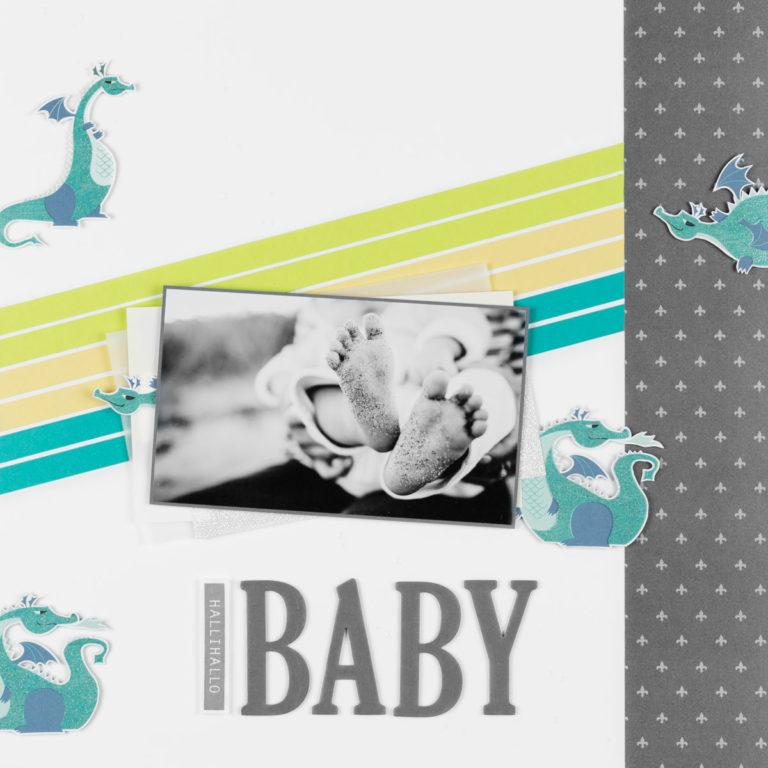 Layout Hallihallo Baby – Drachen & Märchenzauber