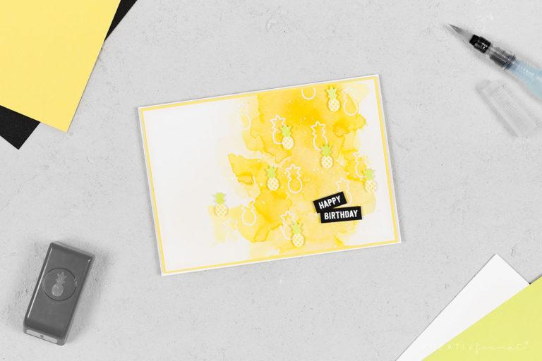 Geburtstagskarte Freche Früchtchen & Baby-Ananas
