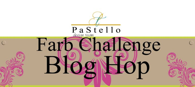 PaStello-BlogHop: Farb-Challenge – Dankeskarte in vorgegebenen Farben