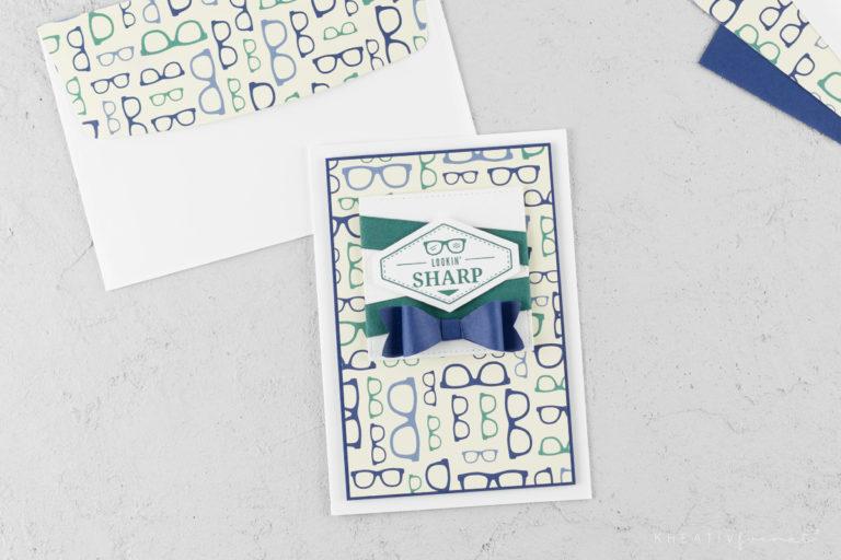 Grußkarte & Umschlag – Ganz Gentleman