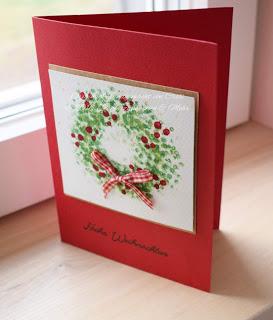 Weihnachtskartenproduktion…