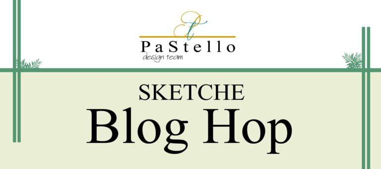 PaStello-BlogHop: Blumige Vintage-Karte