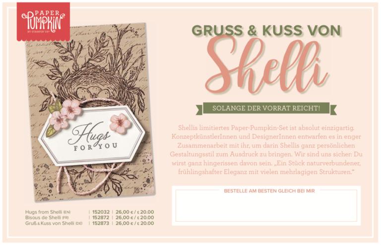 Paper Pumpkin – Gruss und Kuss von Shelly – ab 15. Mai erhältlich!