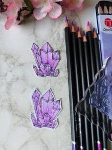 Kristalle colorieren mit den Actionstiften
